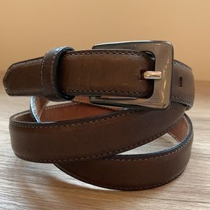 Talbots belt Italian leather and tortoiseshell L